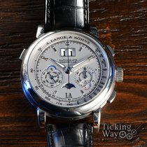 A. Lange & Söhne Datograph 410.025 Very good Platinum 41mm Manual winding
