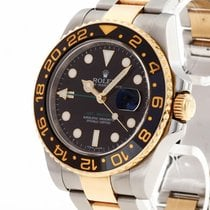 Rolex GMT-Master II Gold/Steel 40mm Black