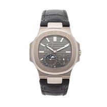 Patek Philippe White gold Automatic Grey No numerals 40mm pre-owned Nautilus