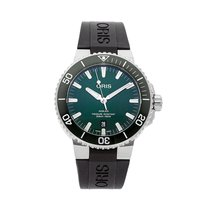 Oris Aquis Date pre-owned 43.5mm Green Date Rubber