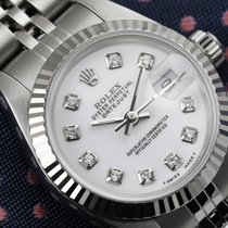 Rolex 26mm Datejust White Diamond Classic Stainless Steel...