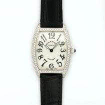 Franck Muller White Gold Cintree Curvex Diamond Watch Ref. 1752