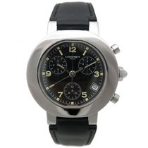 Chaumet style chronographe 40 mm quartz acier palladie watch