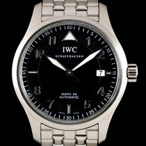 IWC Pilot Mark Stal 39mm Czarny Arabskie