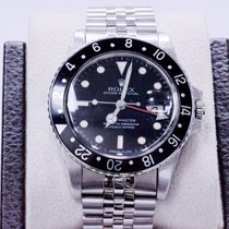 Rolex Gmt Master 16750 Rare Black Spider Web Dial Stainless Steel