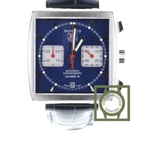 TAG Heuer Monaco Calibre 12 Staal 39mm Blauw