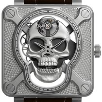 Bell & Ross BR 01 new Manual winding Watch with original box and original papers BR01-SKULL-SK-ST
