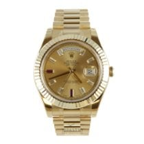 Rolex Day-Date II Yellow gold 41mm Champagne Roman numerals