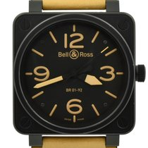 Bell & Ross BR 01-92 pre-owned 46mm Black Calf skin