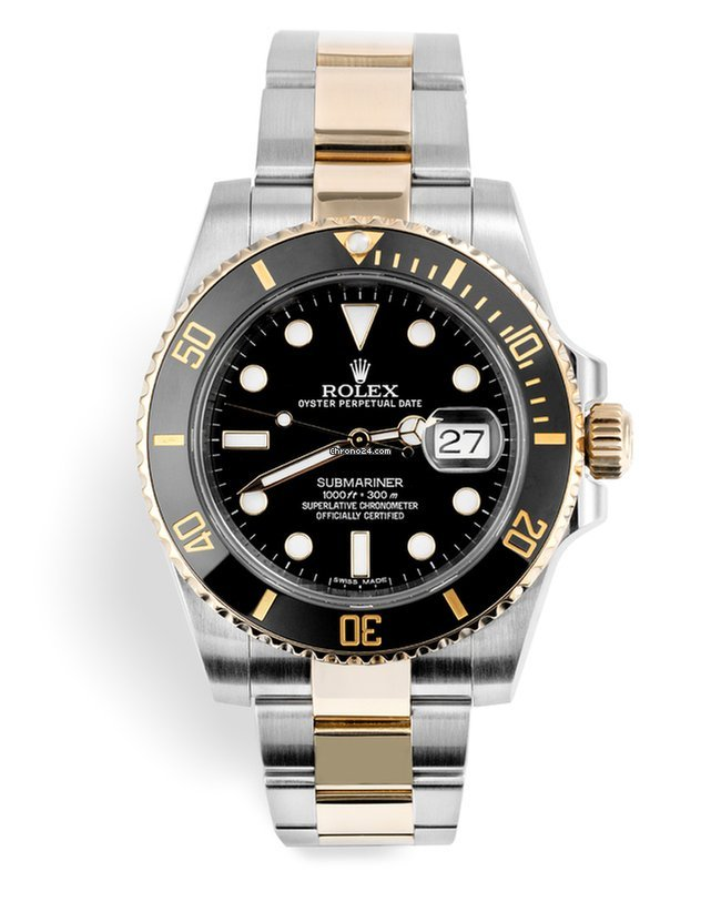 Rolex 116613ln Submariner Date Two Tone Gold Steel Complete Set