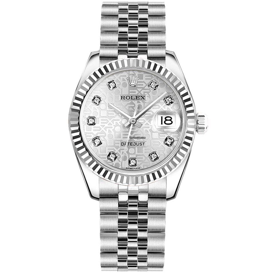 Rolex 178274 Datejust 31mm Silver Jubilee Diam Dial Jub Brac Ss Wg