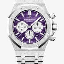 Audemars Piguet Royal Oak Chronograph White gold 41mm Purple No numerals United States of America, New York, New York