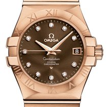 Omega Rose gold Automatic Brown 35mm new Constellation Ladies