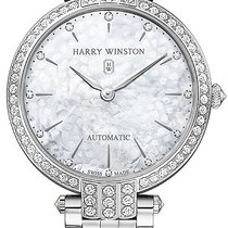 Harry Winston new Automatic Gemstone 36mm White gold Sapphire Glass
