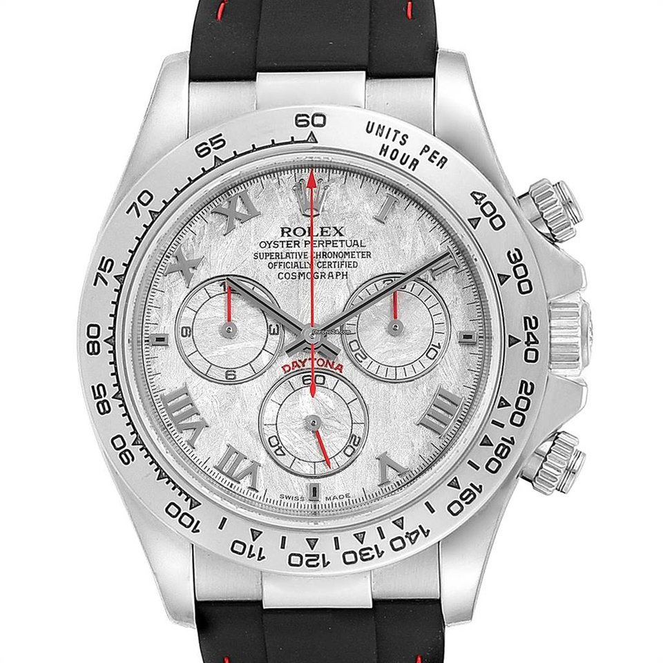 Rolex Cosmograph Daytona White Gold Meteorite Dial Mens Watch 116519
