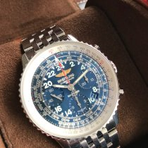 Breitling Navitimer Cosmonaute Stahl 42mm Blau Arabisch