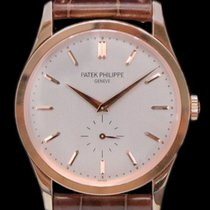 Patek Philippe Calatrava Rose gold 37mm Silver No numerals
