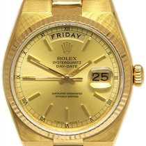 Rolex Day-Date Oysterquartz Yellow gold 36mm Champagne No numerals United States of America, Florida, 33431