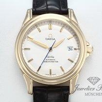 Omega De Ville Co-Axial Yellow gold 38mm Silver No numerals