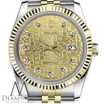 Rolex Lady-Datejust Or/Acier 31mm Champagne Sans chiffres