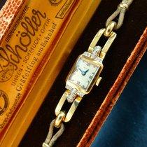 Doxa Supra Yellow Gold 14K 585 & Diamonds Art Deco Ledies...