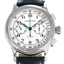 Longines 47.5mm Automatic 2013 pre-owned Heritage (Submodel) White