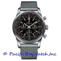 Breitling Transocean Unitime Pilot new Automatic Chronograph Watch with original box and original papers AB0510U6/BC26-SS