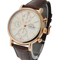 IWC IW391020 Porofino Chronograph 42mm in Rose Gold - On Brown...
