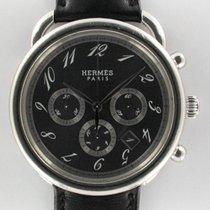 Hermès Arceau Stahl 43mm Grau