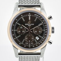 Breitling Transocean Chronograph, SS and 18K Rose Gold,...