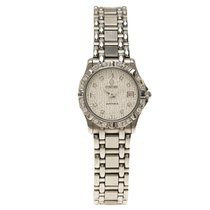 Concord Silver Stainless Steel Diamond Saratoga Women's