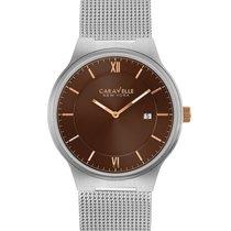 York 45B138 Brown Dial Stainless Steel Mesh Quartz Men's Watch