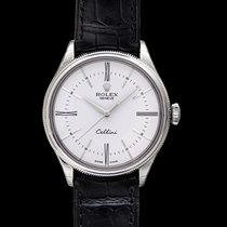 Rolex Cellini Time White/Leather Ø39mm - 50509