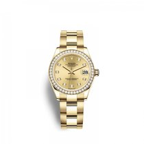 Rolex Lady-Datejust Yellow gold 31mm Champagne