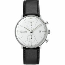 Junghans max bill Chronoscope Steel 40mm White United States of America, New Jersey, Cherry Hill