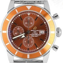 Breitling Superocean Héritage Chronograph pre-owned 44mm Brown Chronograph Fold clasp