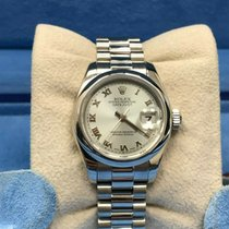 Rolex Platinum Automatic Blue 26mm pre-owned Lady-Datejust