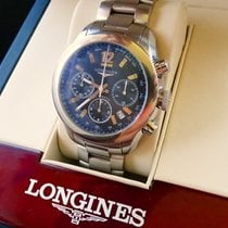 Longines Grande Vitesse Steel 42mm Black No numerals