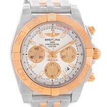 Breitling Chronomat 41 Chrono Steel Rose Gold Watch Cb014012...