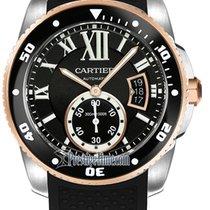 Cartier Gold/Steel 42mm Automatic Calibre de Cartier Diver new