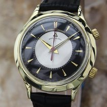 Jaeger-LeCoultre 18k Solid Gold 1960s Swiss Made Manual Alarm...