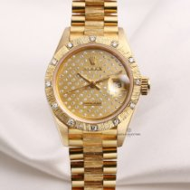 Rolex Rare Factory Rolex Bark Finish Lady DateJust 69288 18K...