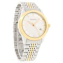 Gucci 126 G-Timeless Mens Two Tone Swiss Quartz Watch YA126409