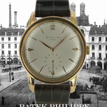 Patek Philippe Red gold Manual winding Silver No numerals 35mm pre-owned Calatrava