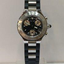 卡地亚 計時碼錶 32mm 石英 新的 21 Chronoscaph 黑色