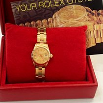 Rolex Oyster Perpetual Lady Date Ouro amarelo 26mm Ouro Sem números
