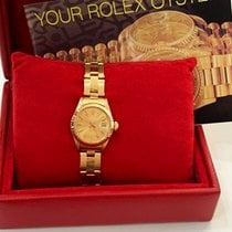 Rolex Oyster Perpetual Lady Date Oro amarillo 26mm Oro Sin cifras