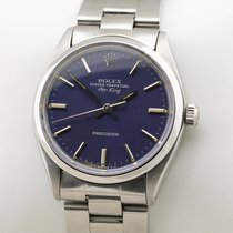 Rolex Air King Precision Steel 34mm Blue