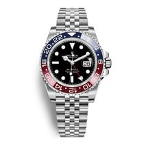 "Rolex GMT-Master II ""Pepsi"" Steel Black Dial 40mm"