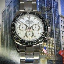Rolex Daytona Chronograph Steel White Dial Black Ceramic Bezel...